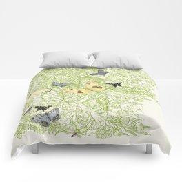 Butterflies in the bee loud glade Comforters