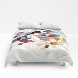 Africa Geometric Abstract Comforters