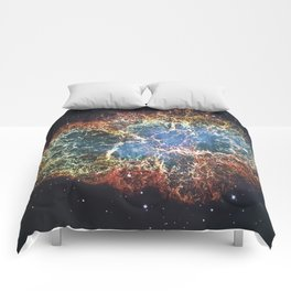 Crab Nebula in constellation Taurus. Supernova Core pulsar neutron star. Comforters