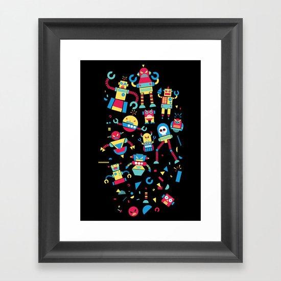 Angrrry Robots! Framed Art Print