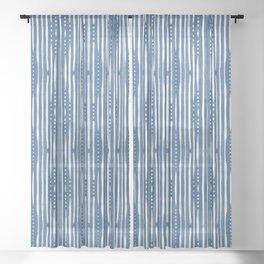 Shibori Tribal #society6 #shibori Sheer Curtain