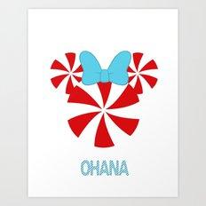 Ohana Minnie  Art Print