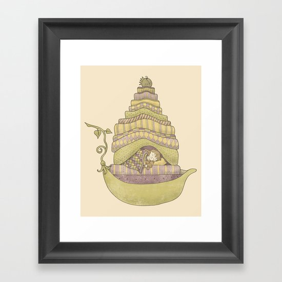 Princess Pea and the Girl Framed Art Print