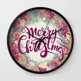 Vintage Christmas 5 Wall Clock