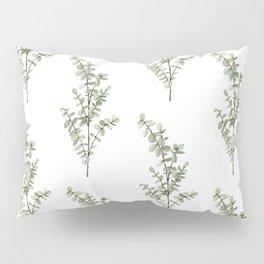 Baby Blue Eucalyptus Watercolor Painting Pillow Sham