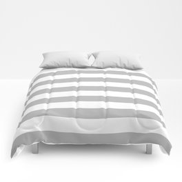 Gray and White Stripes Comforters