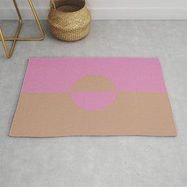 Sandstorm Beige Dark Pink Purple Circle Design 2 2021 Color of the Year Canyon Dusk High Maintenance Rug
