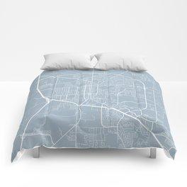 Denton Map, USA - Slate Comforters