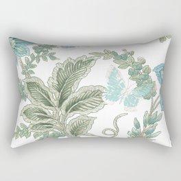 butterfly field Rectangular Pillow