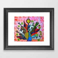 FEATHERED FANFARE Framed Art Print