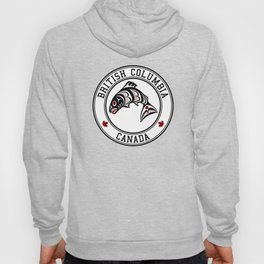 Native American Red Black Graphic Vector Salmon Hoody