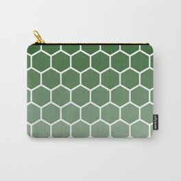 Green gradient honey comb pattern Carry-All Pouch