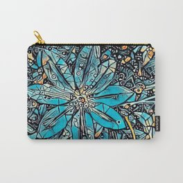 Clematis Blue Fantasia Carry-All Pouch