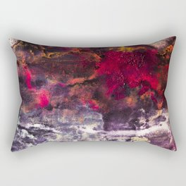 Abstract Encaustic I  /  Encaustique abstrait I  /  Encáustica abstracto I Rectangular Pillow