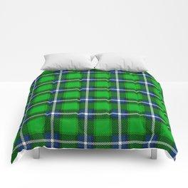 Scottish Tartan Blue and Green Comforters