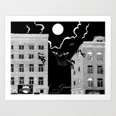 sounds of the night Art Print