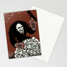 Monkey Skull Suit Stationery Cards