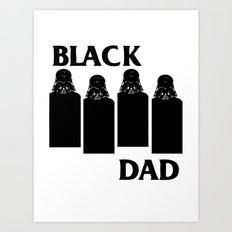 Black Dad Art Print