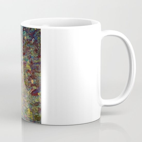 FIELDS OF BLUE - WOW Modern Abstract Shades of Blue and Green in Nature Theme Grass Waves Mug