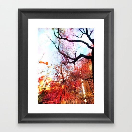 Color Blocked Framed Art Print