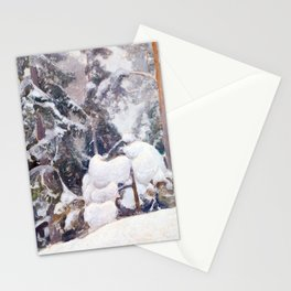 Pekka Halonen Winter landscape Stationery Cards
