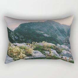 Mountain flowers at sunrise Rectangular Pillow