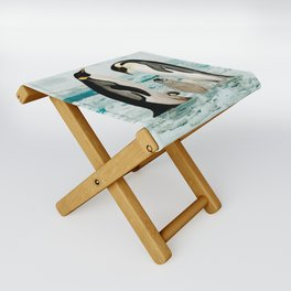 Emperor Penguin Family Folding Stool