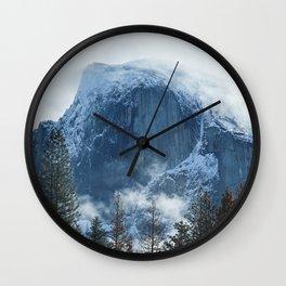 Ice-capped Half Dome at Sunrise   Yosemite National Park, California Wall Clock