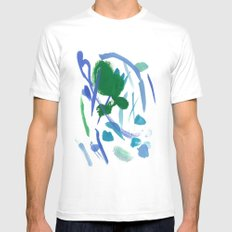 Rainy Day Mens Fitted Tee MEDIUM White