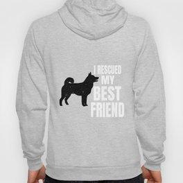 I Rescued My Best Friend Tee Rescued Norwegian Elkhound Tee Hoody