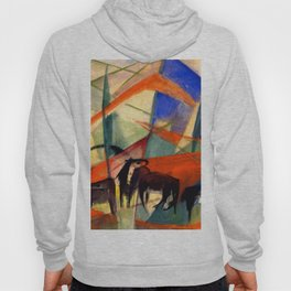 """Franz Marc """"Landscape with Black Horses"""" Hoody"""