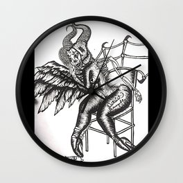 TRANSPARENCY- Black and White Wall Clock