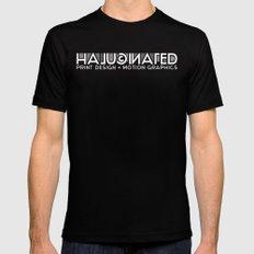 Halucinated Logo Mens Fitted Tee Black MEDIUM