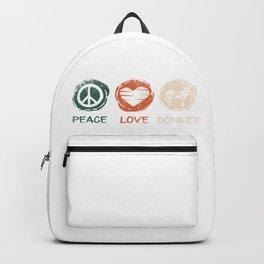 Peace Love Donkey Backpack