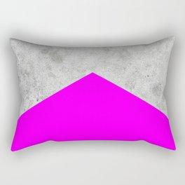 Concrete Arrow - Neon Purple #728 Rectangular Pillow