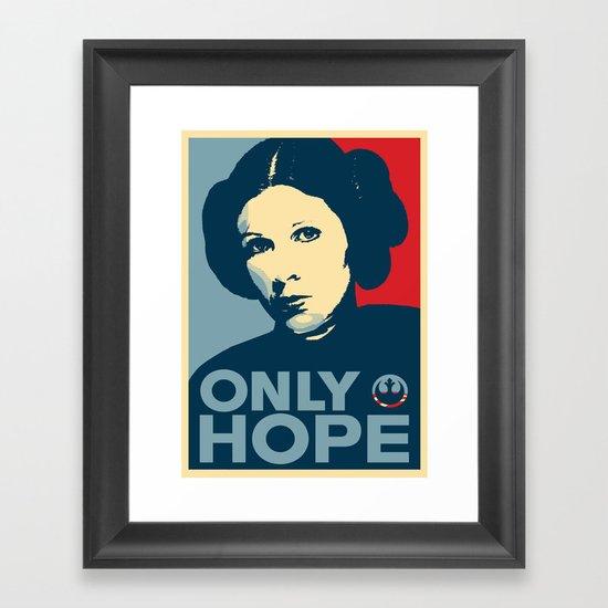 Leia's Only Hope Framed Art Print