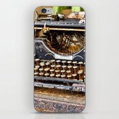 Vintage Rusty Typewriter iPhone & iPod Skin