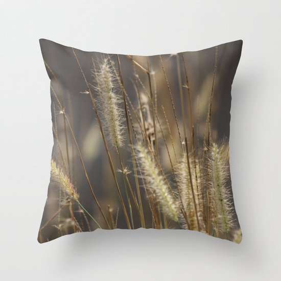 Blowing in the wind. Throw Pillow