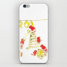 Preparando el año nuevo  iPhone & iPod Skin