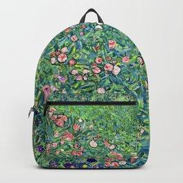 Gustav Klimt Italian Garden Backpack