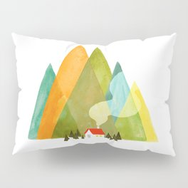House at the foot of the mountains Pillow Sham