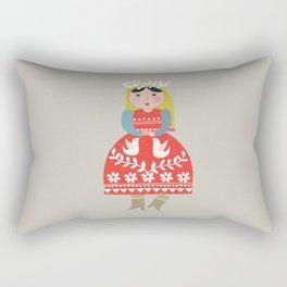 folk girl Rectangular Pillow