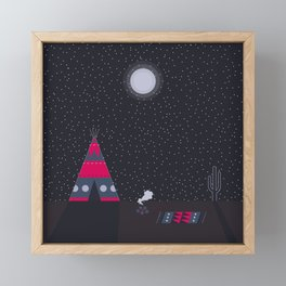 Cosy night in the teepee Framed Mini Art Print