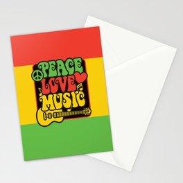 Rasta Peace Love Music Stationery Cards