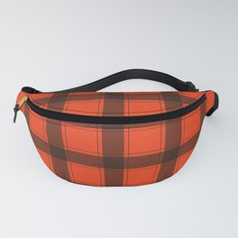 Classic Red Plaid Fanny Pack