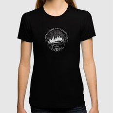wander Womens Fitted Tee LARGE Black