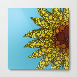 Sunflower in Abstract Form - Flower field - Autumn and summer collide - 57 Montgomery Ave Metal Print