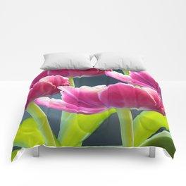 Tulip Bouquet Spring Atmosphere #decor #society6 #buyart Comforters