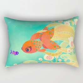 The golden meeting Rectangular Pillow