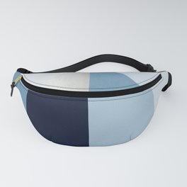 Geometric raindrop - chambray blues Fanny Pack